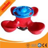 Caballo de oscilación al aire libre plástico del juego 4-Seats de los cabritos para los niños