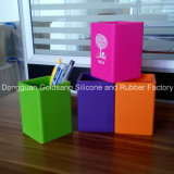 Facoty Direct Selling Cadeaux promotionnels Silicone Square Pen Container