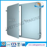 Puerta hermética de aluminio de la sola hoja marina para el barco
