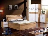 Кровать машинной плиты неоклассической конструкции мебели спальни типа деревянная (HX-LS016)