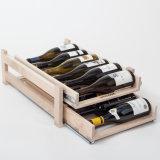 Stand d'exposition de vin en bois en vrac en usine avec tiroir