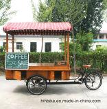 Bicicleta elétrica personalizada do café do carro do Vending do café do triciclo do fast food