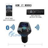 """최신 새로운 1.44 """" 차를 위한 MP3 Bluetooth FM 전송기를 비용을 부과하는 지도된 전시 무선 라디오 2 USB"""