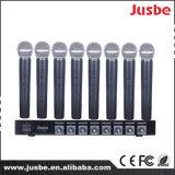 Gooseneck микрофона 12V системы конференции VHF Jusbe FL-8328 8-Link микрофон встречи беспроволочного профессионального динамический