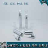 bottiglia senz'aria cosmetica d'argento della pompa di 5ml 10ml 12ml 15ml per la crema dell'occhio