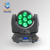 Chearper 가격 7*10W 4in1 RGBW LED 나이트 클럽 사건 당을%s DMX in&Powercon를 가진 이동하는 맨 위 광속 빛