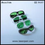 635nm, 905nm, anteojos de la protección de /Eye de las gafas de seguridad de laser 980nm para el rojo y lasers del diodo (RTD-4 630-660nm y 800-830nm y 900-1100nm) con el marco gris 55