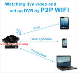 4CH車バスタクシーDVR 1080P HD移動式DVRサポートGPS 3G 4G SIMカード