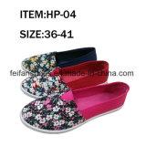 Zapatos planos de las mujeres calzado de lona con buena calidad