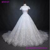 Weiße volle Spitze-Hochzeits-Kleid-Brautkleid-kundenspezifische Größe 4 6 8 10 12 14 16 18