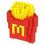 Installationssatz-Nahrungsmittelserien-Blöcke des Block-14889236-Micro stellten kreatives pädagogisches DIY Spielzeug 220PCS - Krapfen ein