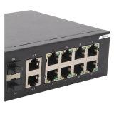 Interruptor de rede portuário combinado rápido do Ethernet 8 e do acesso 2