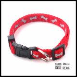 Collar de perro al por mayor del patrón del cráneo en rojo
