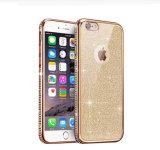 Platerend Unilaterale Boring met Glitter Zacht Geval TPU voor iPhone 6 het Geval van het Leer 6splus 7 7plus (xsdd-086)