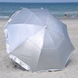 8 FT-Solarschutz-deluxer Doppelkabinendach-Strand-Regenschirm Upf 150+ ultra kühl