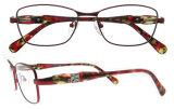 Metallroter Eyewear Rahmen-Frauen-Brille-Rahmen