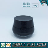 Black Colored Empty Cosmetic Packaging Garrafas e frascos de vidro