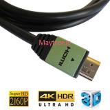 Cable del shell V2.0b 4k HDMI de Aliminum