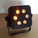 安い6X15W Rgabw電池によって再充電されるLED PAR64の結婚式ライト
