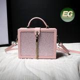 이탈리아 디자이너 형식 어깨에 매는 가방 Emg5081가 상자에 의하여 형성된 핸드백 100% 실제적인 가죽 가방에 의하여 시니 경기를 한다