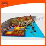 Крытые мягкие пластичные игрушки спортивной площадки с Trampoline для малышей