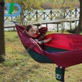 Openlucht Draagbare het Kamperen Nylon Hangmat met het Hangen van Kabel