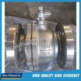 2 parties ont moulé le robinet à tournant sphérique de l'eau de gaz de pétrole d'acier inoxydable