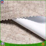 Capa impermeable tejida casera del franco de la tela del poliester de la tela de materia textil que se reúne la tela de la cortina del apagón