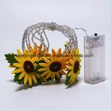 10 sternenklaren Lichtern der Sonnenblume-LED auf 3m freiem Energien-Timer-Batterie-Satz der Draht-Zeichenkette-der Licht-leuchten AA