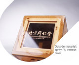 Vernissage de la boîte de empaquetage à vin en bois de noix noire de forces de défense principale