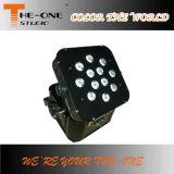 실내 DMX512 원격 제어 LED 무선 건전지 빛