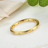 Plateerde het Directe 18k Goud van de fabriek de Echte Zilveren Juwelen van Ring 925