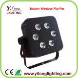 Lumière de mariage rechargée par batterie bon marché de 6X15W Rgabw DEL PAR64