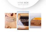 Лакировать вина грецкого ореха MDF коробку черного деревянного упаковывая