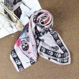 Casaco de seda impressa de alta qualidade para mulheres de alta qualidade para mulheres