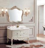 Vaidade contínua do banheiro da antiguidade do dissipador da madeira de carvalho única