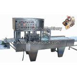 Machine de mastic de colmatage de plateau d'aliments de préparation rapide