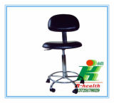 Anti-Static Lab PU Leather Chair para uso em sala limpa