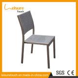 Jardín al aire libre Comedor heces de mimbre restaurante silla sillas de aluminio Rattan terraza del café