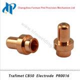 Électrode Pr0016 de nécessaire de consommables de chalumeau de plasma de Trafimet CB50