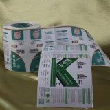 China imprimió la escritura de la etiqueta auta-adhesivo de papel de la etiqueta engomada