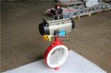 Válvula de borboleta de lustro da bolacha do disco com atuador pneumático (WD7A1X-10/16)