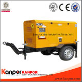 Tipo movido fácil Genset Diesel do reboque psto por Lovol Motor elétrico