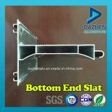 Profil en aluminium d'extrusion pour le guichet de porte d'obturateur de roulement avec la couleur personnalisée de taille