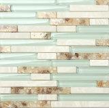 Azulejos de mosaico de cristal de la tira al azar del material de construcción para la cocina Backsplash