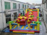 Campo de jogos inflável da fábrica de Guangzhou, corrediça gigante com preço de grosso