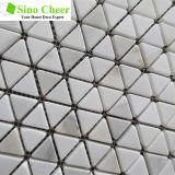 Mosaico de la piedra del mármol del oro de Calacatta del azulejo de mosaico del triángulo