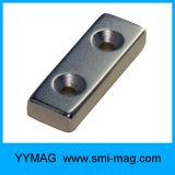 Magnete del neodimio del blocchetto di alta qualità N35sh con il foro svasato
