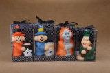 Kundenspezifischer Paraffinwachs-Halloween-Großhandelsgeist-geformte Kerze
