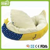 Half-Moon Shape Soft Plush Round Pet Dog Bed